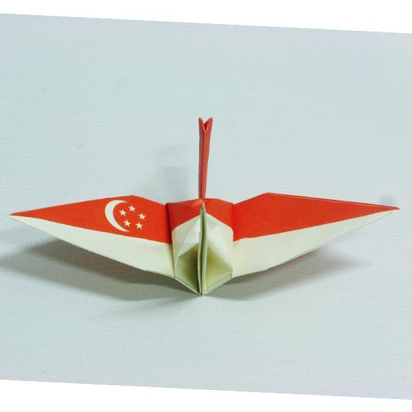 【シンガポール】 国旗折り鶴 折り紙おりがみ おりづる 国旗のデザイン 計50枚 ギフト 留学 お土産 伝統 紹介 知育玩具|yumenetshop|03