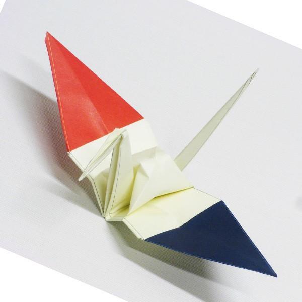 【フランス】 国旗折り鶴 折り紙おりがみ おりづる 国旗のデザイン 計50枚 ギフト 留学 お土産 伝統 紹介 知育玩具|yumenetshop
