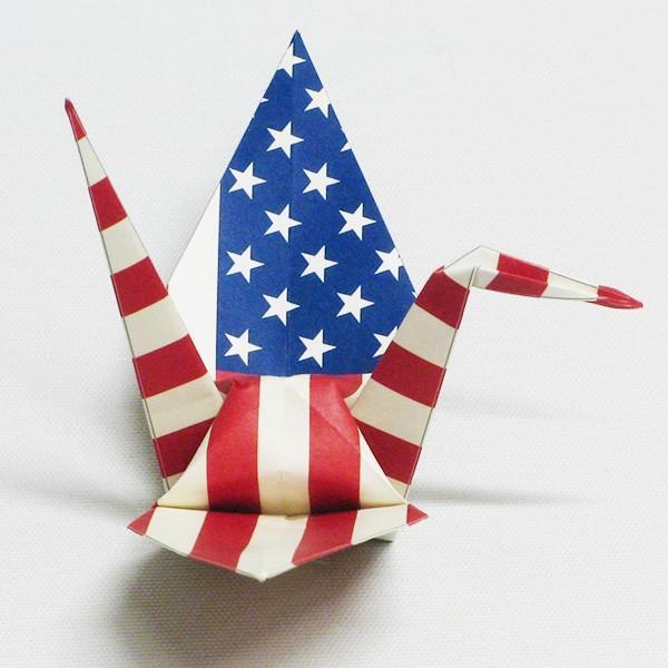 【アメリカ】 国旗折り鶴 折り紙おりがみ おりづる 国旗のデザイン 計50枚 ギフト 留学 お土産 伝統 紹介 知育玩具|yumenetshop|02