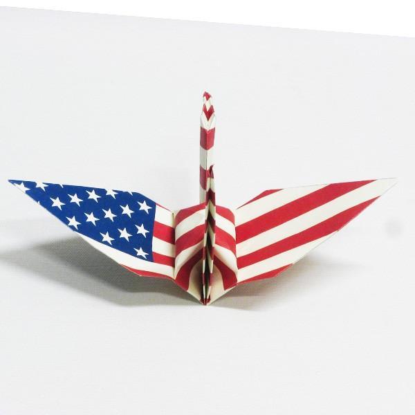 【アメリカ】 国旗折り鶴 折り紙おりがみ おりづる 国旗のデザイン 計50枚 ギフト 留学 お土産 伝統 紹介 知育玩具|yumenetshop|03