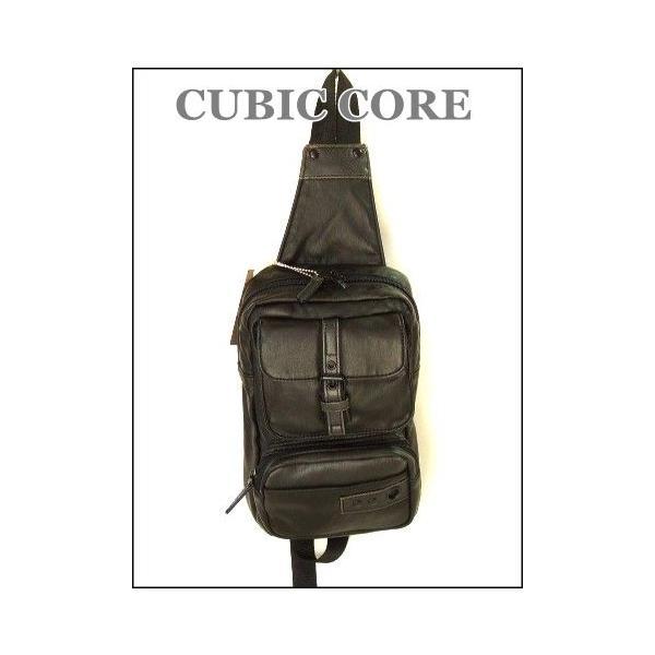 【sale】CUBIC COREソフト合皮ボディバッグ(2色有)