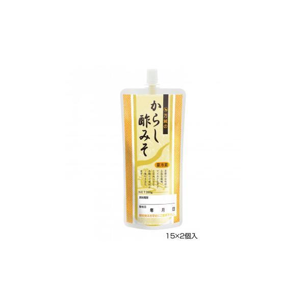 BANJO 万城食品 からし酢みそSP 350g 15×2個入 420018 (APIs) (軽税)