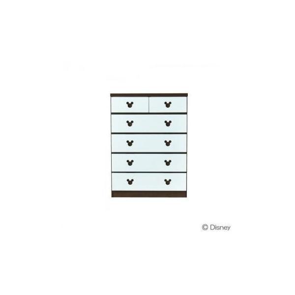 大人シックなディズニーチェスト ショコラ・ミッキー 幅75cm・5段 (APIs)