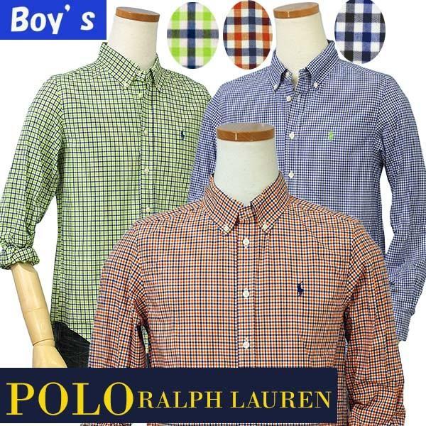 ラルフローレン ボーイズ マルチチェック長袖シャツ ボタンダウンシャツ POLO by Ralph Lauren Boy's|yumesse