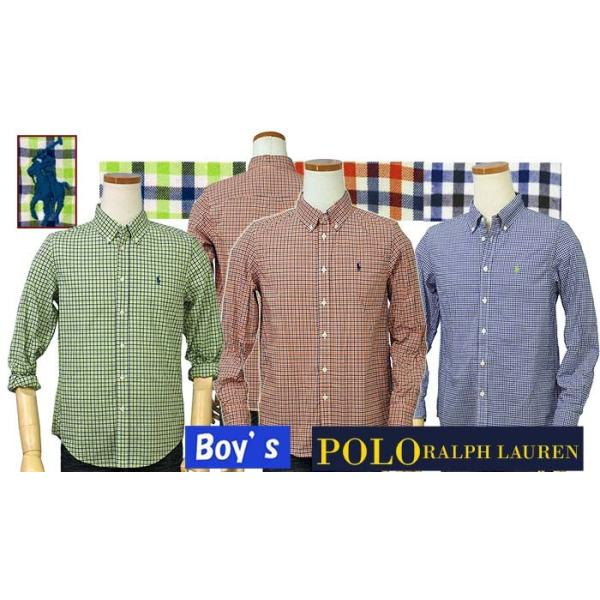 ラルフローレン ボーイズ マルチチェック長袖シャツ ボタンダウンシャツ POLO by Ralph Lauren Boy's|yumesse|02