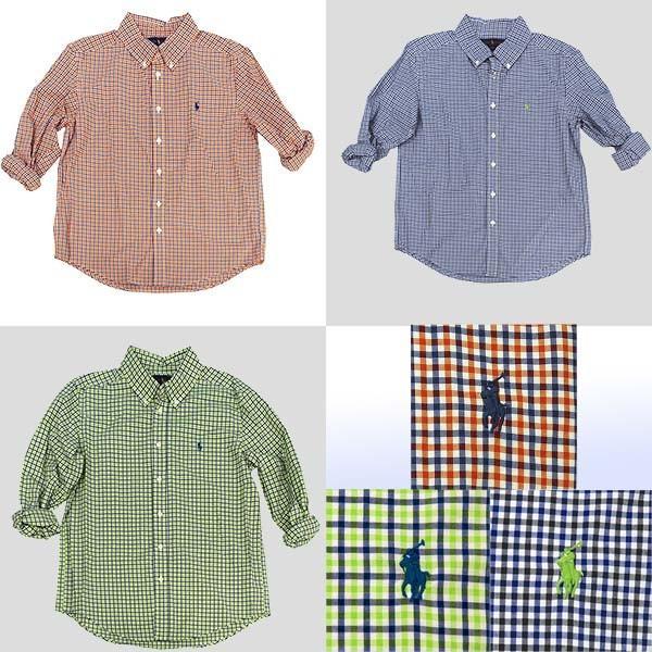 ラルフローレン ボーイズ マルチチェック長袖シャツ ボタンダウンシャツ POLO by Ralph Lauren Boy's|yumesse|03