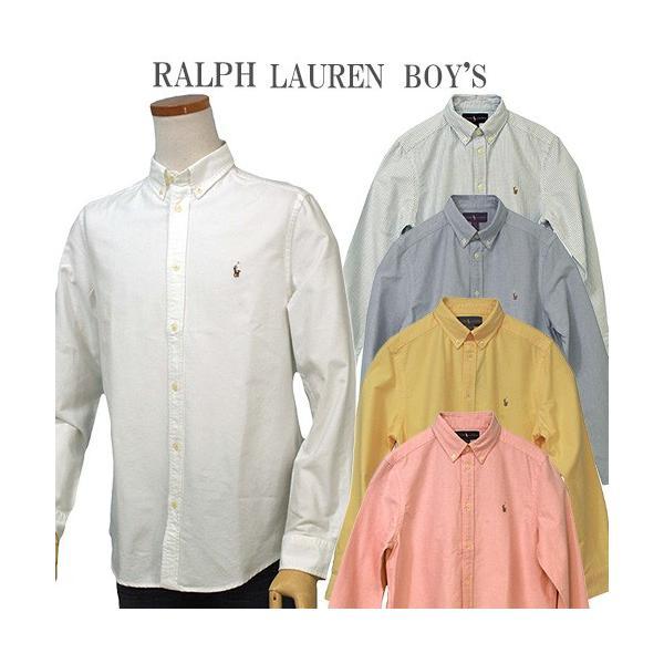 ラルフローレン オックスフォードシャツ 長袖 メンズ レディース POLO by Ralph Lauren Boy's (#323677133 #323677177 )|yumesse