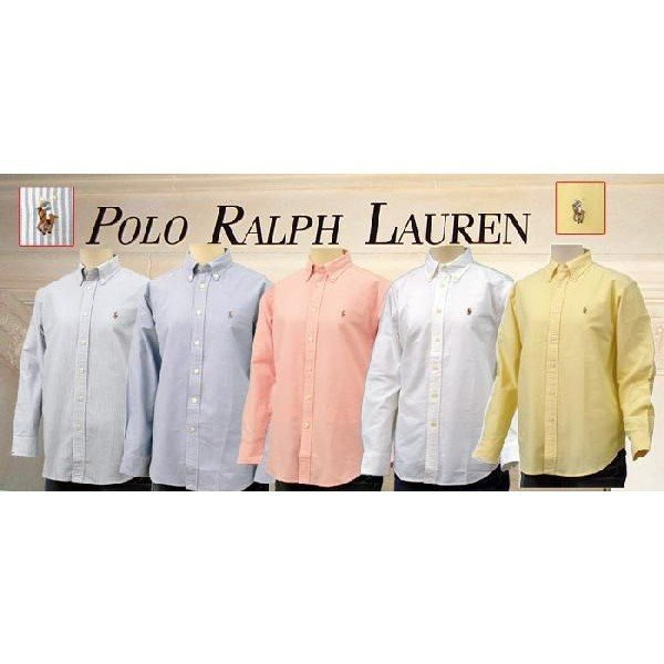 ラルフローレン オックスフォードシャツ 長袖 メンズ レディース POLO by Ralph Lauren Boy's (#323677133 #323677177 )|yumesse|02