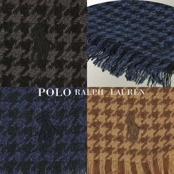 ラルフローレン マフラー 千鳥格子ウール100% メンズ レディース 兼用 POLO by Ralph Lauren プレゼントにも最適  (PC0009)|yumesse|03