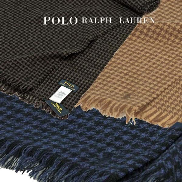 ラルフローレン マフラー 千鳥格子ウール100% メンズ レディース 兼用 POLO by Ralph Lauren プレゼントにも最適  (PC0009)|yumesse|04