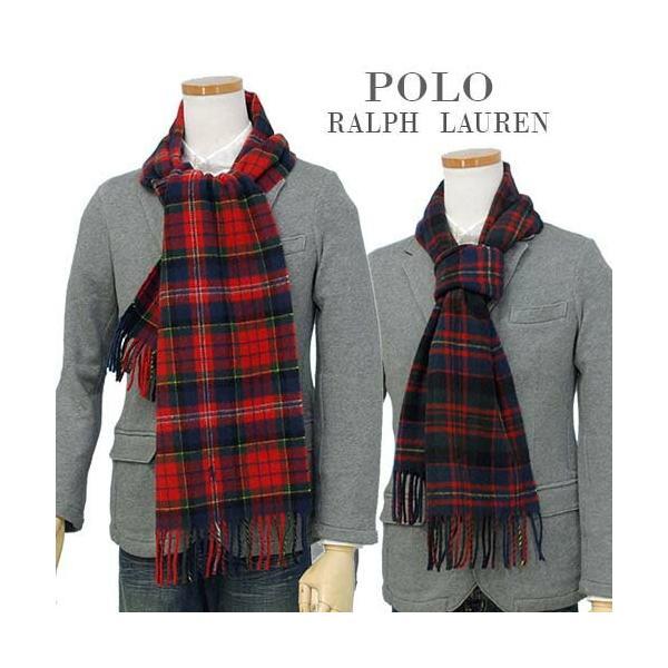 ラルフローレン マフラー 2018年新作 クラシック タータンチェック ウール100% イタリア製 メンズ レディース プレゼント POLO Ralph Lauren #pc0233|yumesse