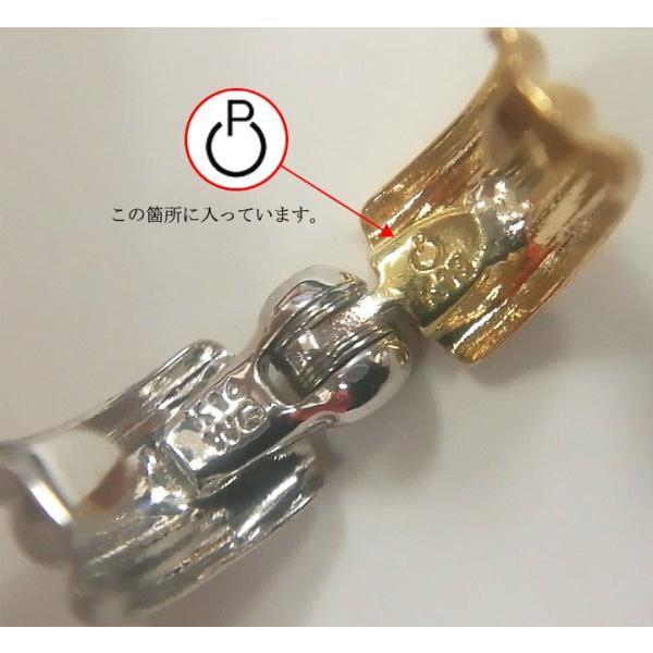 ピアリング 耳が痛くなりにくい ピアス風 イヤリング リバーシブル 小さいシンプル波型タイプ K18(ゴールド) &K14WG(ホワイトゴールド)|yumesse|04