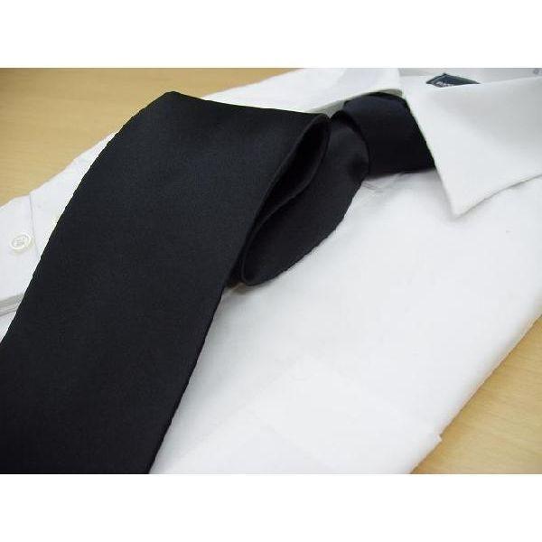 ネクタイ 黒 礼装用 フォーマル 葬式 葬儀 冠婚葬祭 メンズ シルクネクタイ シルク100%  送料無料 ネコポス発送のみ|yumesse