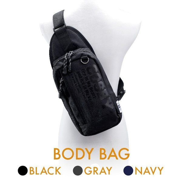 ボディバッグ body bag ショルダーバッグ メンズ レディース 40代 50代 軽量 斜め掛け シンプルデザイン ブラック/グレー/ネイビー cosby ボディバッグ(70002)|yumesse