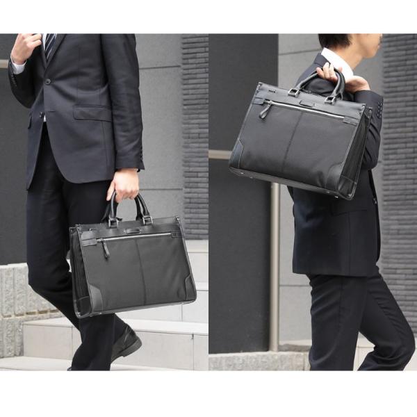 ビジネスバッグ メンズ 軽量 A4 ショルダーバッグ ストラップ付 2way ブリーフケース 多機能ポケット 通勤 出張 就職活動(GB-1320)|yumesse|03