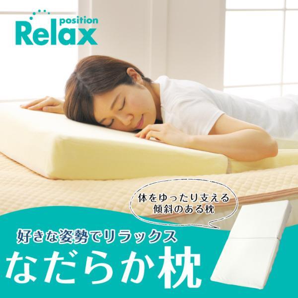 なだらか枕 (約)55×90cm×高さ2〜10cm 傾斜枕 足枕 1配送2個まで (逆流性食道炎対策 低反発マットレス) 送料無料|yumeyayumeya