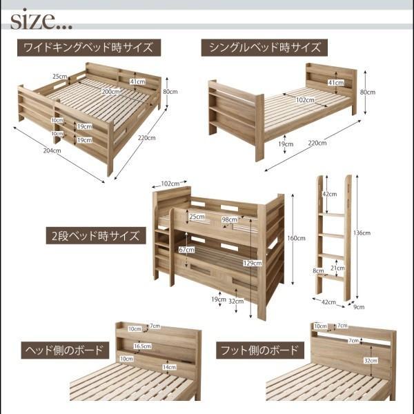 2段ベッドにも Whentass薄型軽量ボンネルコイルマットレス付スタンダードWK(代引不可)(有料組立設置レベル3)|yumugiya|11