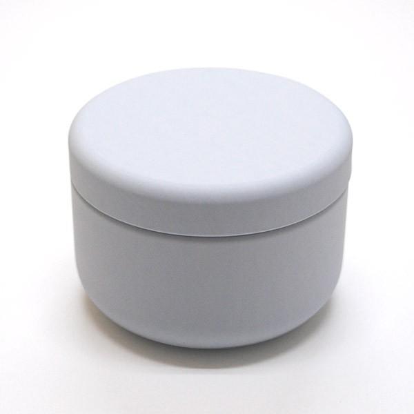 お茶筒 プチ缶 ホワイト 内容量 約20g 缶 茶缶 おしゃれ モダン|yunoha