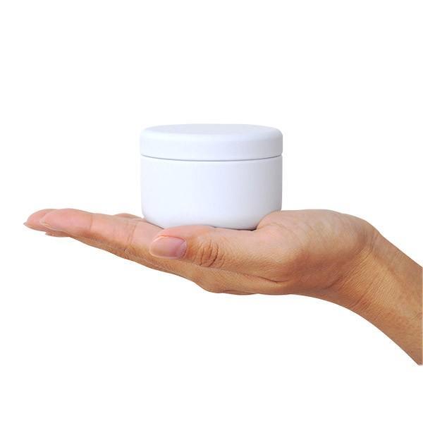 お茶筒 プチ缶 ホワイト 内容量 約20g 缶 茶缶 おしゃれ モダン|yunoha|03