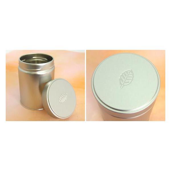 茶筒 茶缶 スクリュー缶 レリーフ 内容量 約100g 缶 おしゃれ モダン|yunoha|02