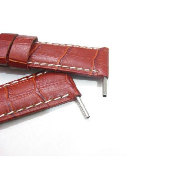 「パネライPANERAI向け」輸入王オリジナルベルトチューブ2本社外品メンズ腕時計ベルト用