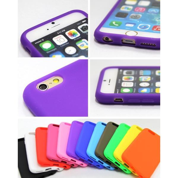 iphone6s ケース iphone6s plus ケース iphone6 ケース iphone6 plus ケース シリコン シンプル 豊富なカラーバリエーション ソフト 送料無料|yunyuuzakkanoyamaei|03