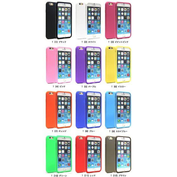 iphone6s ケース iphone6s plus ケース iphone6 ケース iphone6 plus ケース シリコン シンプル 豊富なカラーバリエーション ソフト 送料無料|yunyuuzakkanoyamaei|05