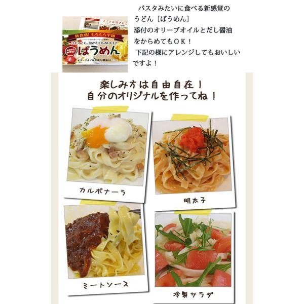 讃岐うどん 半生 平麺 ぱうめん 2人前 つゆ付|yurakuya-udon|04