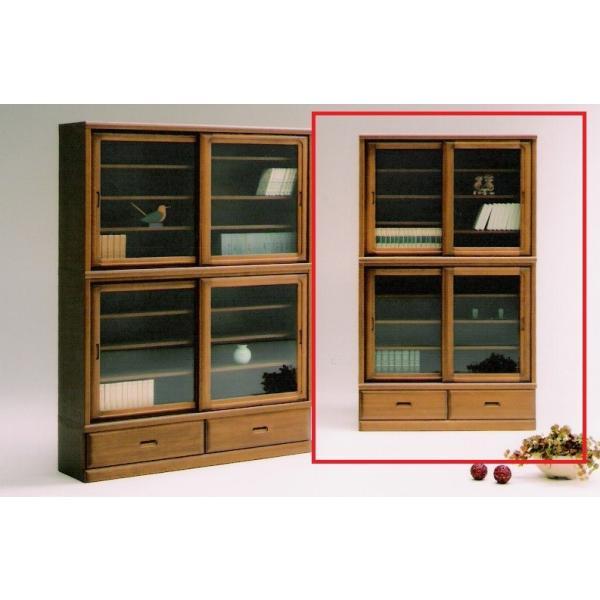 家具 収納 棚 ボード エブリ 1200 引戸書棚 2色