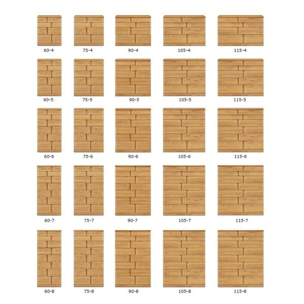 家具 収納 棚 ボード ハート 105-8段 チェスト