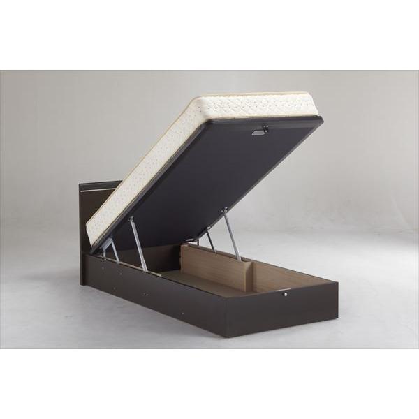 イーポイント ベッドフレーム 収納タイプ 220H USサイズ ユーティリティシングル 収納付き 2色 【送料無料(一部地域除く)】