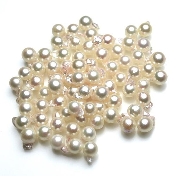 アコヤ  真珠  あこや パール バロック ペア 素材 パーツ ビーズ 2粒 7mm|yusa-jewelry|02