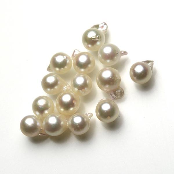 アコヤ  真珠  あこや パール バロック ペア 素材 パーツ ビーズ 2粒 7mm|yusa-jewelry|03