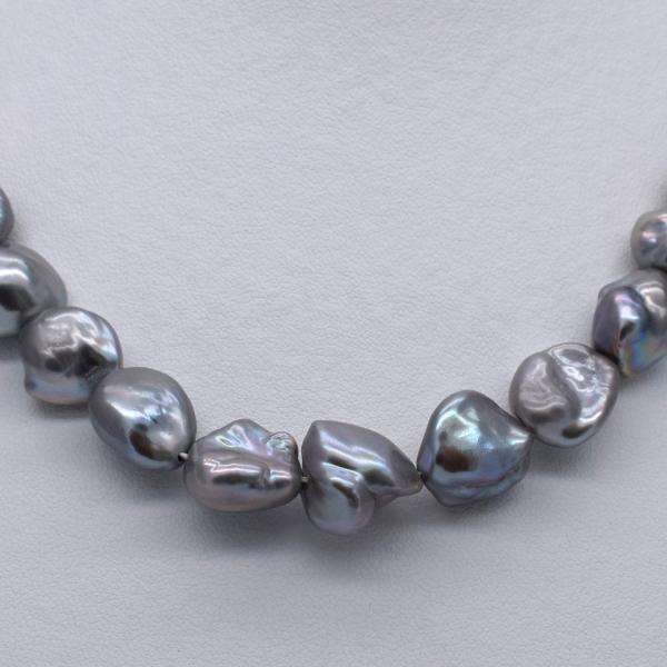 淡水パール ケシ バロック 本真珠 パーツ 素材 ビーズ シルバーグレー系 11~15mm 1粒 yusa-jewelry 04
