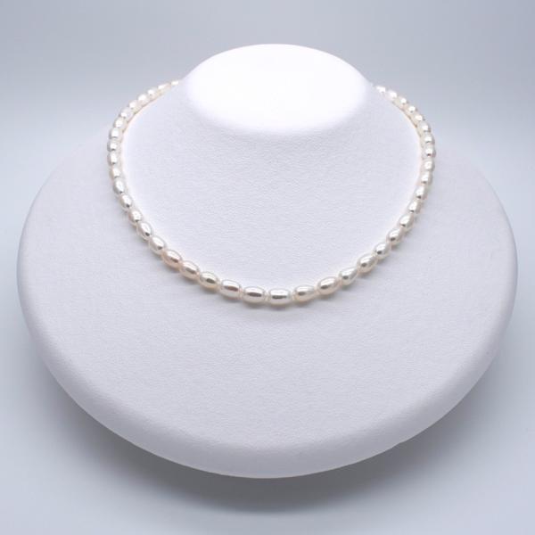 淡水パール ライス 中粒 ホワイト系 真珠 1粒 6~8mm 素材 パーツ 材料 ポイント消化|yusa-jewelry|04