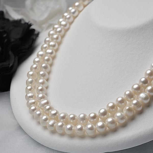 淡水パール ポテト パーツ 素材 ビーズ 真珠 ホワイト 中粒 8.0mm|yusa-jewelry|02