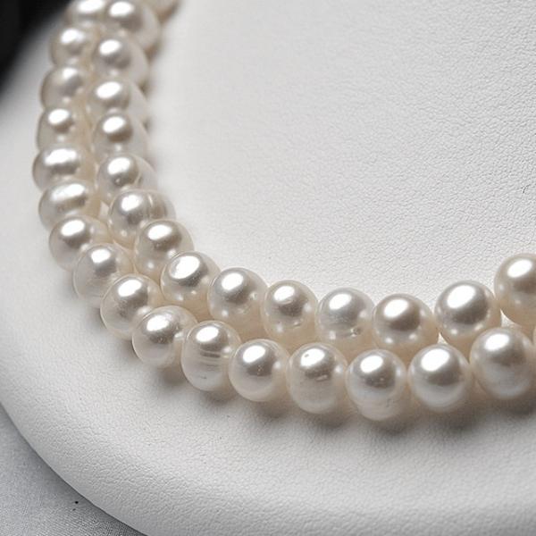 淡水パール ポテト パーツ 素材 ビーズ 真珠 ホワイト 大粒 8.0mm|yusa-jewelry|04
