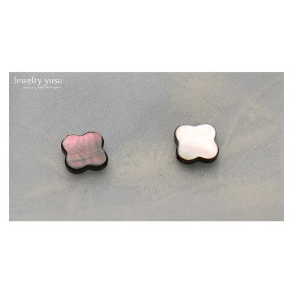 白蝶真珠貝と黒蝶真珠貝のクローバーカットピース4個 選べる2タイプ 条件付き送料無料 ネックレス ハンドメイド デザイナー愛用素材 材料|yusa-jewelry|11
