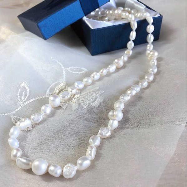 淡水パール バロック パーツ 素材 ビーズ 真珠 ホワイト 1粒 7~10mm|yusa-jewelry|04