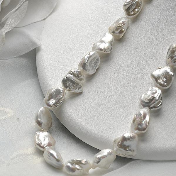 淡水パール バロック 大粒 パーツ 素材 ビーズ 真珠 ホワイト 1粒 11~15mm|yusa-jewelry|02