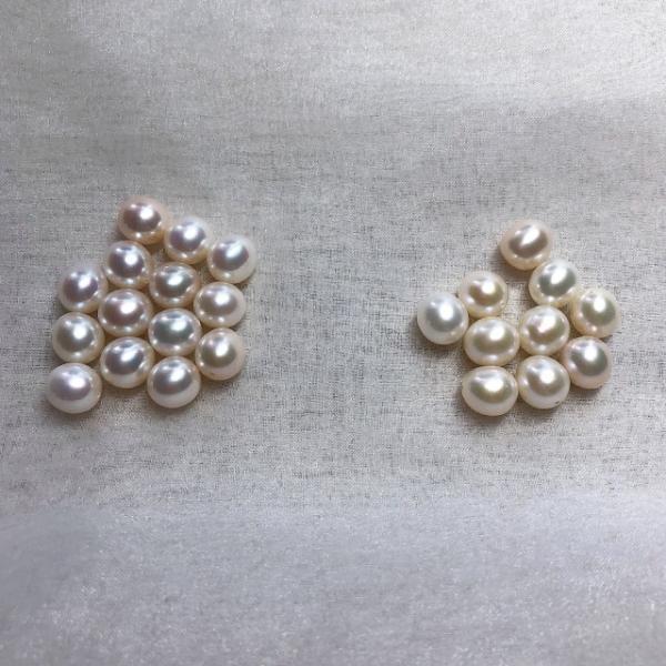 淡水パール セミラウンド パーツ 素材 ビーズ 真珠 マルチカラー 10粒 8mm|yusa-jewelry|03