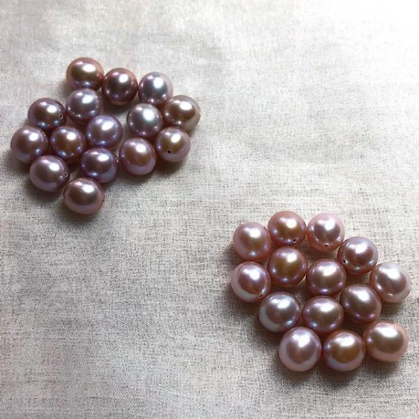淡水パール セミラウンド パーツ 素材 ビーズ 真珠 マルチカラー 10粒 8mm|yusa-jewelry|05