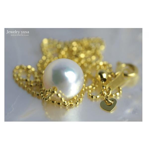アコヤ真珠スルーペンダントネックレス あこや 本真珠 パール 9.0mm K18 K18WG ゴールドチェーン ギフト パーティー 選べる10タイプ 送料無料|yusa-jewelry|02