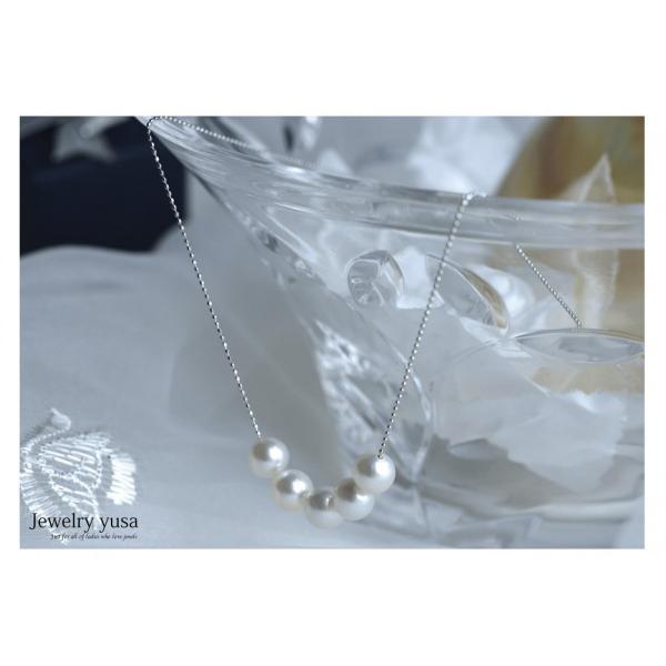 アコヤ真珠スルーペンダントネックレス あこや 本真珠 パール 9.0mm K18 K18WG ゴールドチェーン ギフト パーティー 選べる10タイプ 送料無料|yusa-jewelry|06