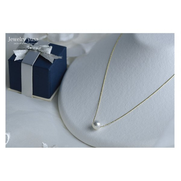 アコヤ真珠スルーペンダントネックレス あこや 本真珠 パール 9.0mm K18 K18WG ゴールドチェーン ギフト パーティー 選べる10タイプ 送料無料|yusa-jewelry|07