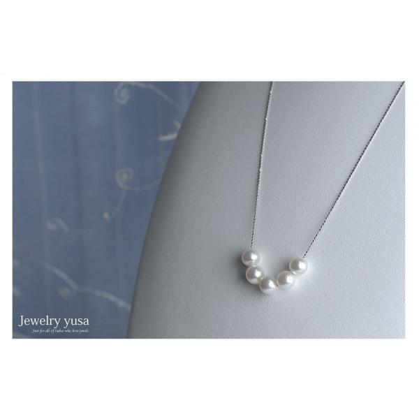 アコヤ真珠スルーペンダントネックレス あこや 本真珠 パール 9.0mm K18 K18WG ゴールドチェーン ギフト パーティー 選べる10タイプ 送料無料|yusa-jewelry|08