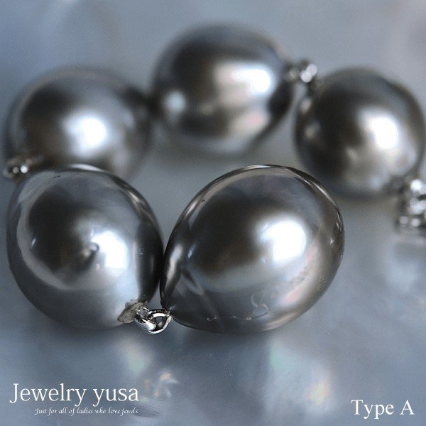 黒蝶真珠オメガネックレス スルーペンダント クリッカー式 パール 11mm 南洋 タヒチ パーティー 友人との会食 ギフト 送料無料|yusa-jewelry