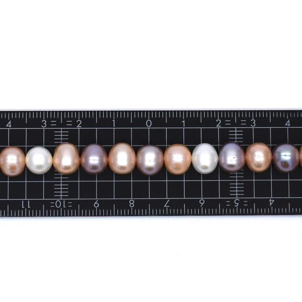 淡水パールネックレス 本真珠 ナチュラル マルチカラー アジャスター付 送料無料 yusa-jewelry 08