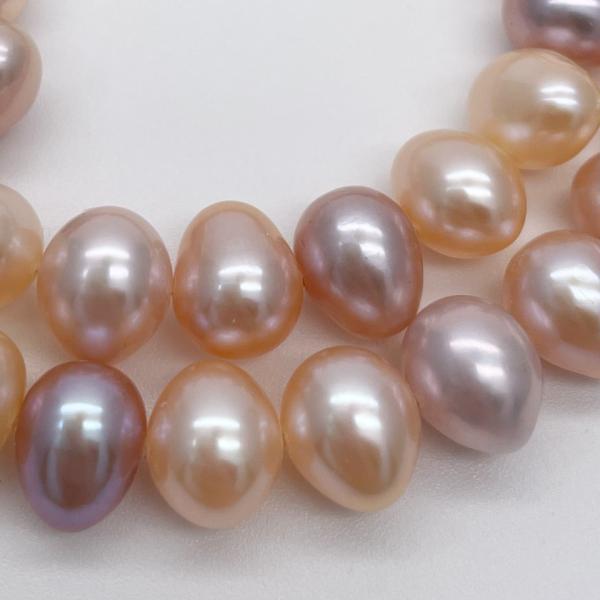 淡水パール 連 ポテト 中粒 40cm パーツ 素材 真珠 マルチカラー|yusa-jewelry|03