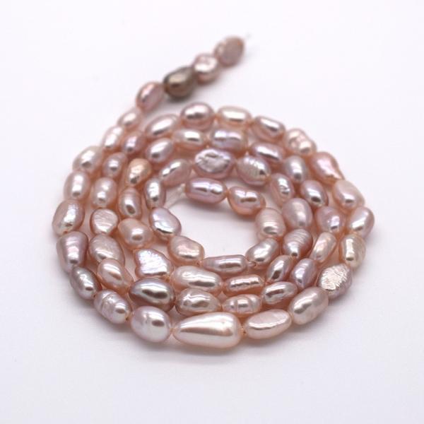 SALE 淡水パール 連 バロック ライス 小粒 40cm パーツ 素材 真珠 パープル系|yusa-jewelry